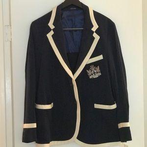 Beautiful crested Polo blazer.  Size L